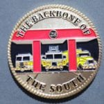 Fire fighter Challenge Coins