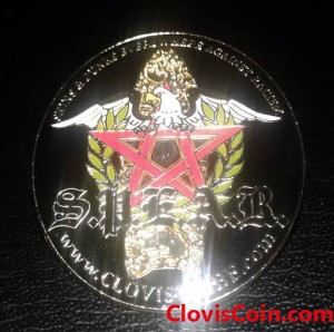 Custom Lapel Pin made with soft enamel and covered with clear epoxy